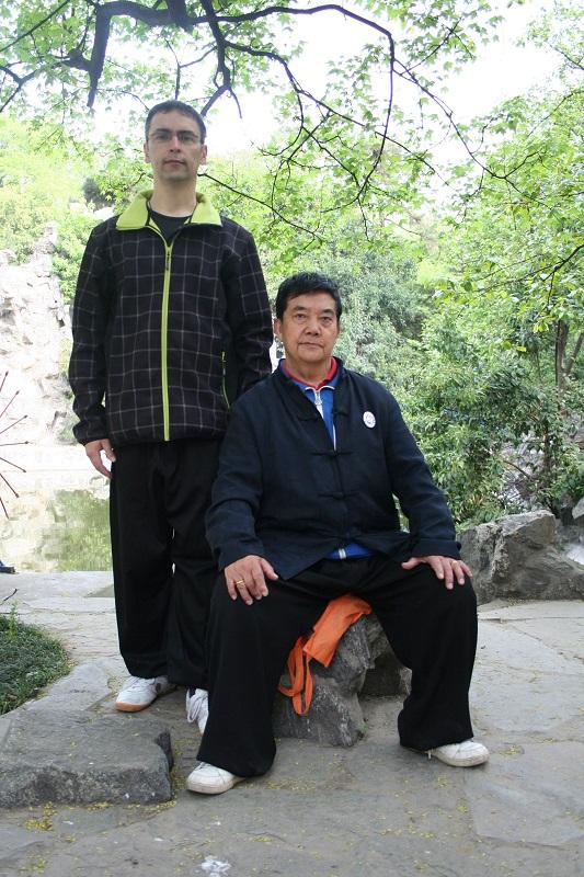 Meister Li Suiyin & Thomas Richter im Park in Xi´an 2015